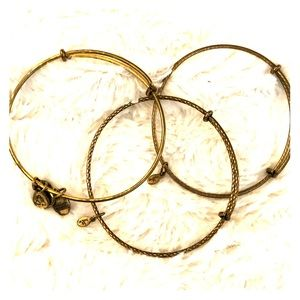 Alex and Ani Bracelet stack (3 gold)